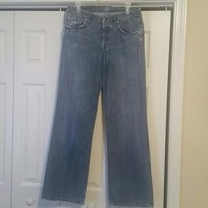 7 for all mankind relaxed jeans. 32 inch inseam